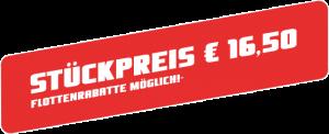 Preisschild € 16,50